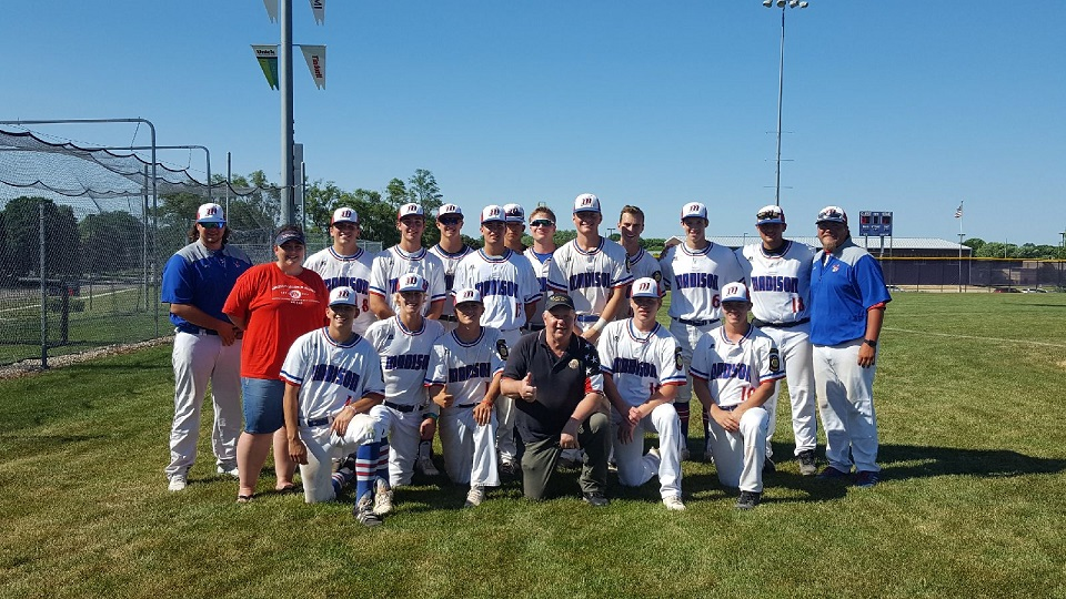 American Legion Baseball Team sponsored by Legion Post 501 - 7-8-2018.