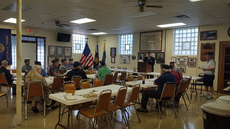 Post 501's Legion meeting attendees on 8-8-2018.