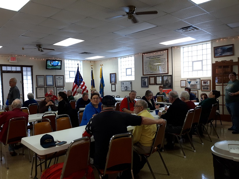 Legion supporters enjoying the Post 501's volunteer appreciation luncheon on 10-7-2018.