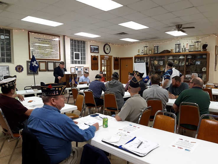 Post 501 member Legion meeting on 10/10/2018.