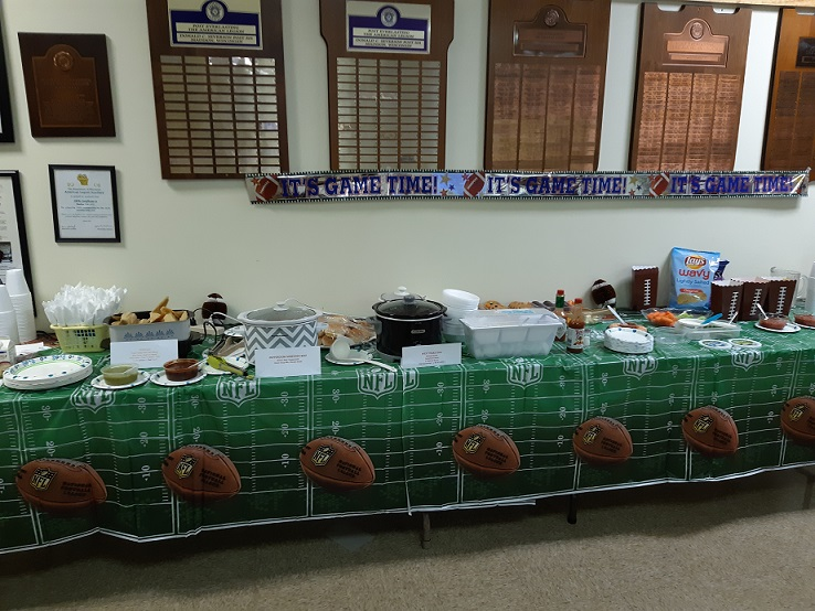 Here is the Super Bowl buffet, something for everyone.