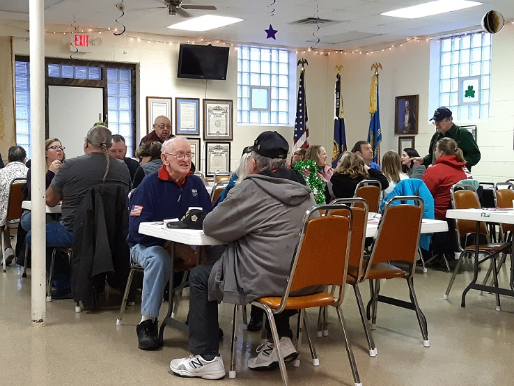 These folks participated at Post 501's corned beef & cabbage dinner on 3/9/2019.