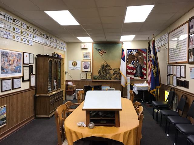 The Post 501 Auxiliary/History Room ready for guests to view.