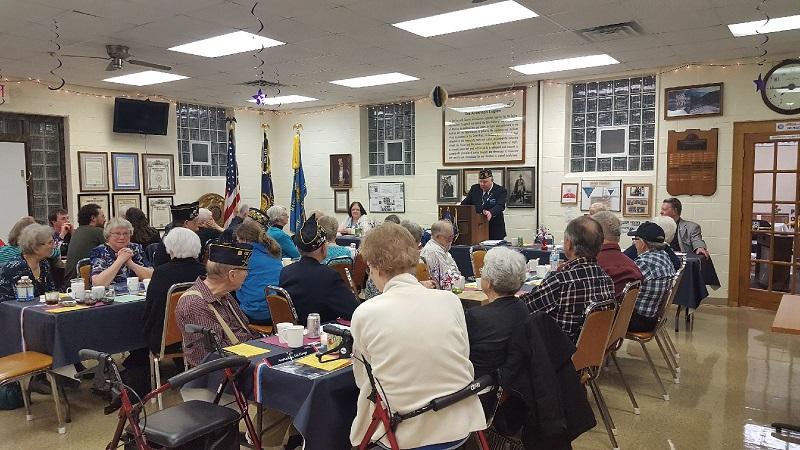 A full house for Post 501's Birthday Dinner.