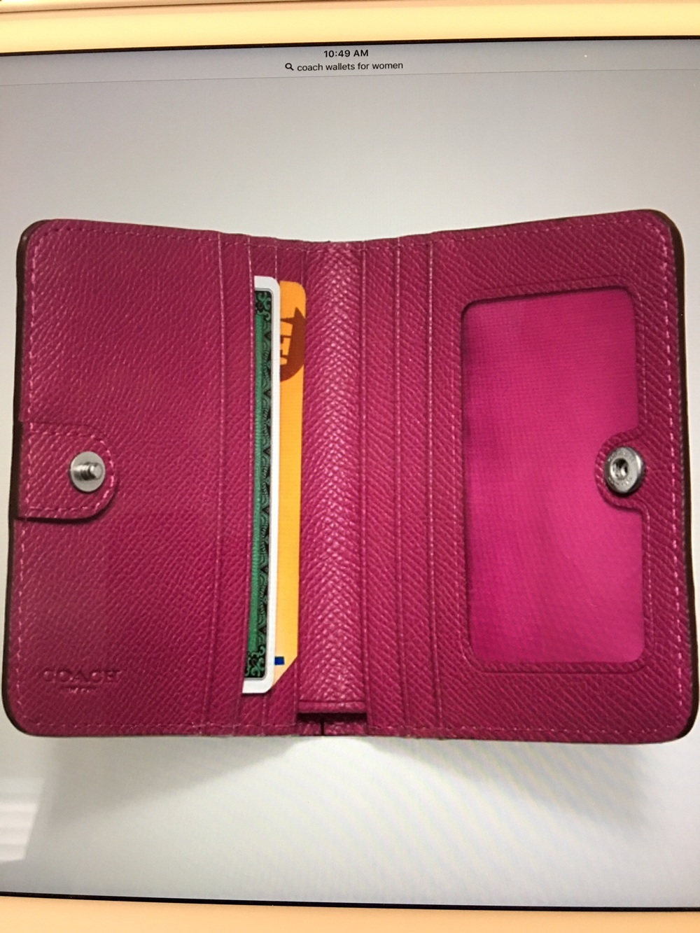 Unsecured physical wallet