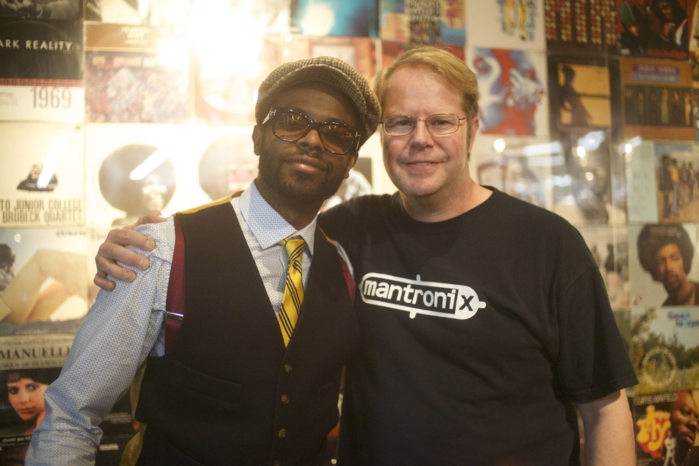 Artform Records curator Adrian Younge poses alongside author of Check The Technique Volume II, Brian Coleman.