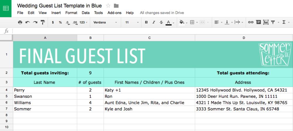blue guest list screenshot