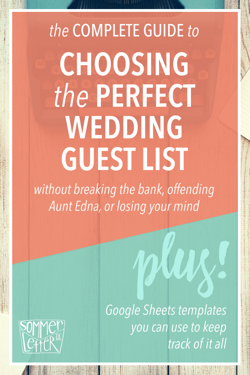 Choosing a guest list template download