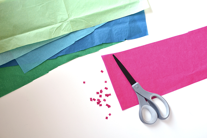 how to make confetti for a birthday card project