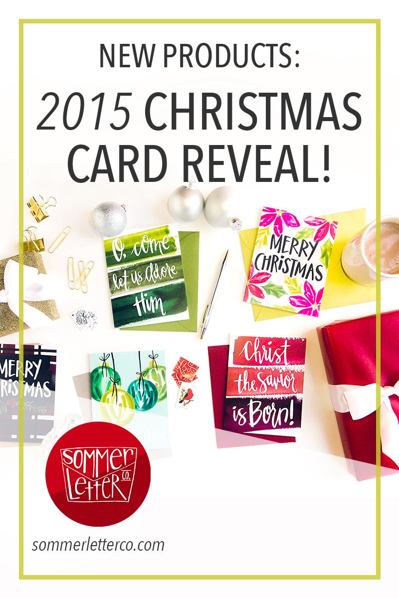 Sommer Letter Co. Christmas card reveal 2015
