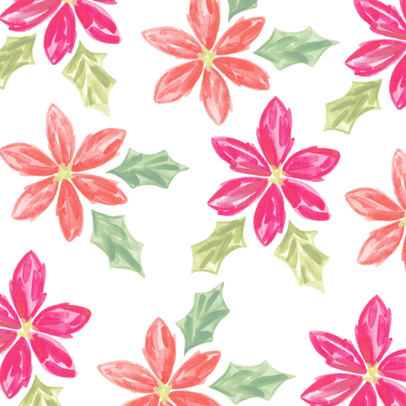 pink poinsettias Christmas iPhone and laptop background