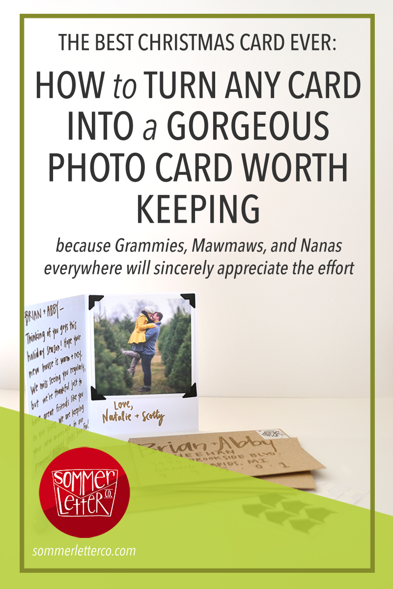 the best Christmas card ever: how to turn any card into a gorgeous photo card worth keeping