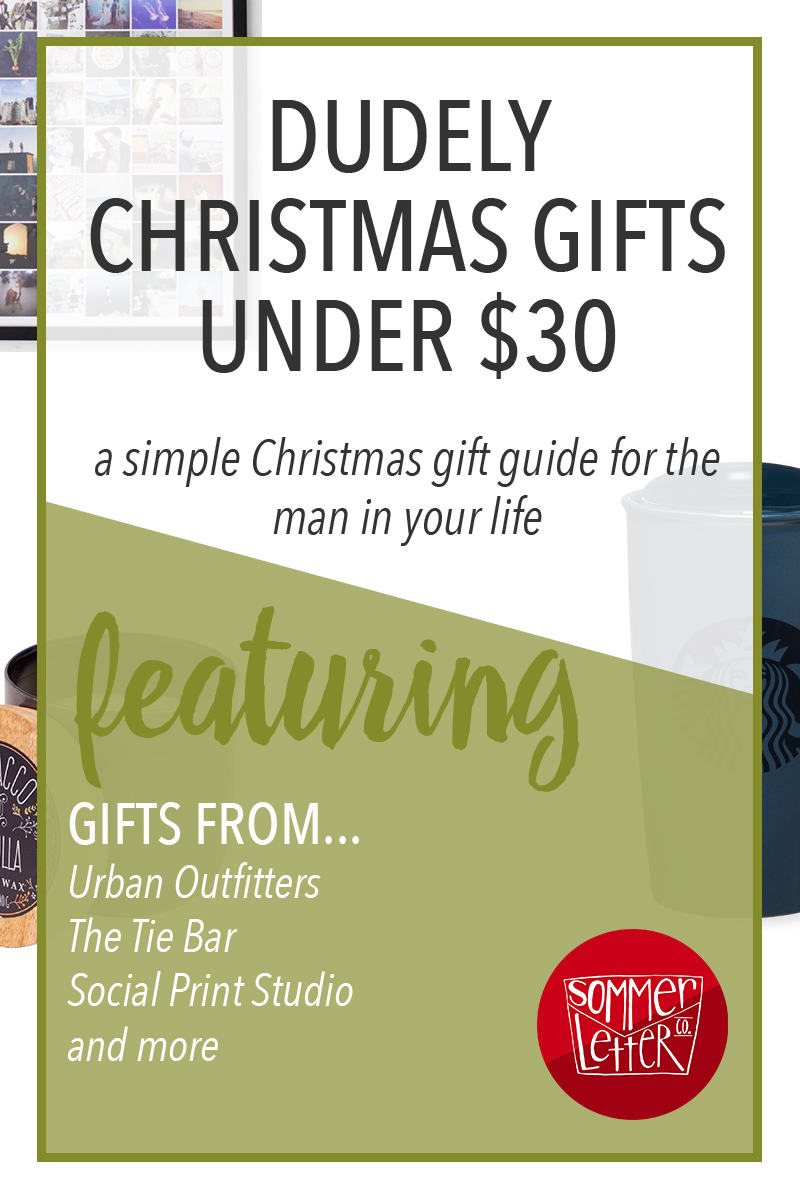 christmas shopping for men - gift ideas under $30