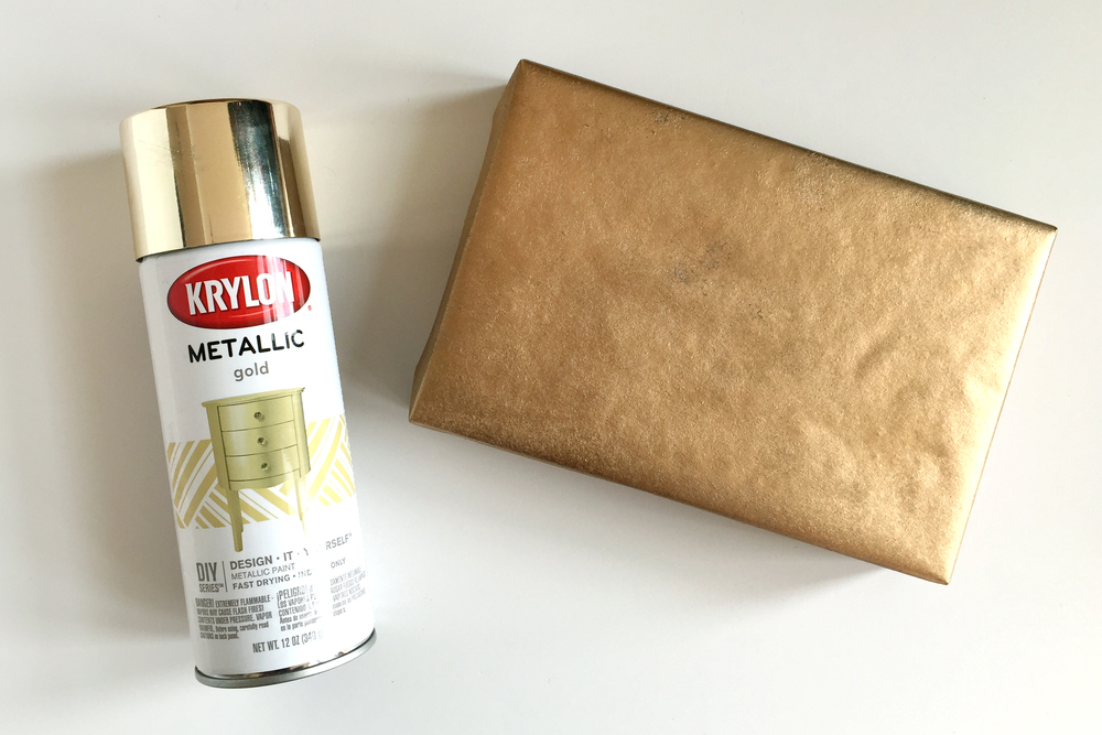 Spray paint wrapping paper tutorial