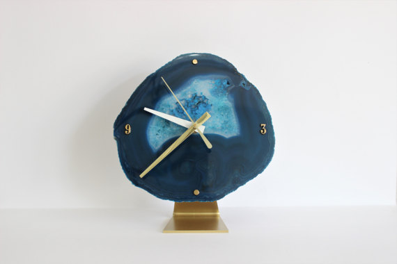 unique bohemian geode clock