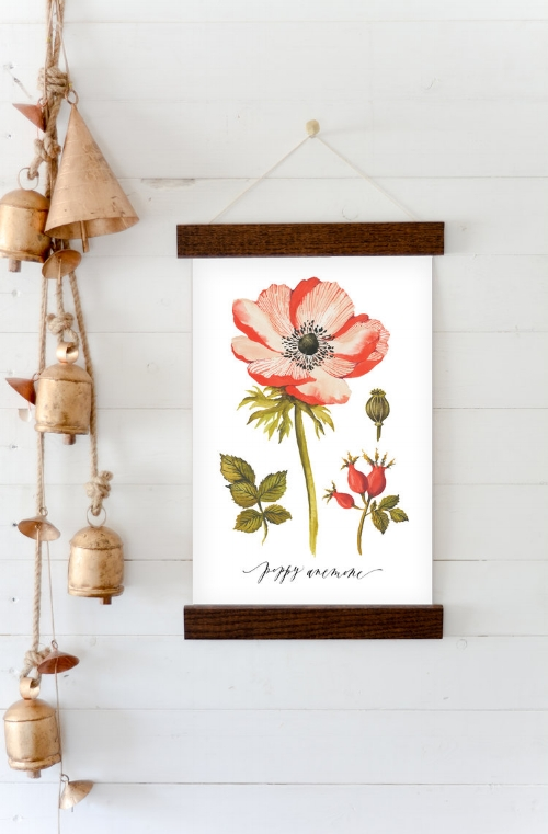 Wildfield Paper Co. Poppy Print