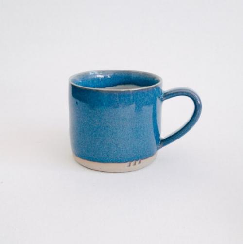 Blue classic stoneware mug by McBeard Ceramics