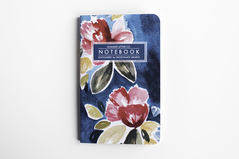 bohemian floral notebook from Sommer Letter Co. and MayBooks