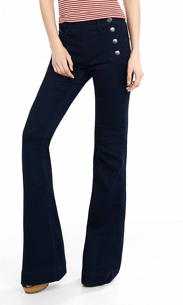 Mid Rise Sailor Bell Flare Pant available at Express- $88 (buy one get second pair for $29.90)