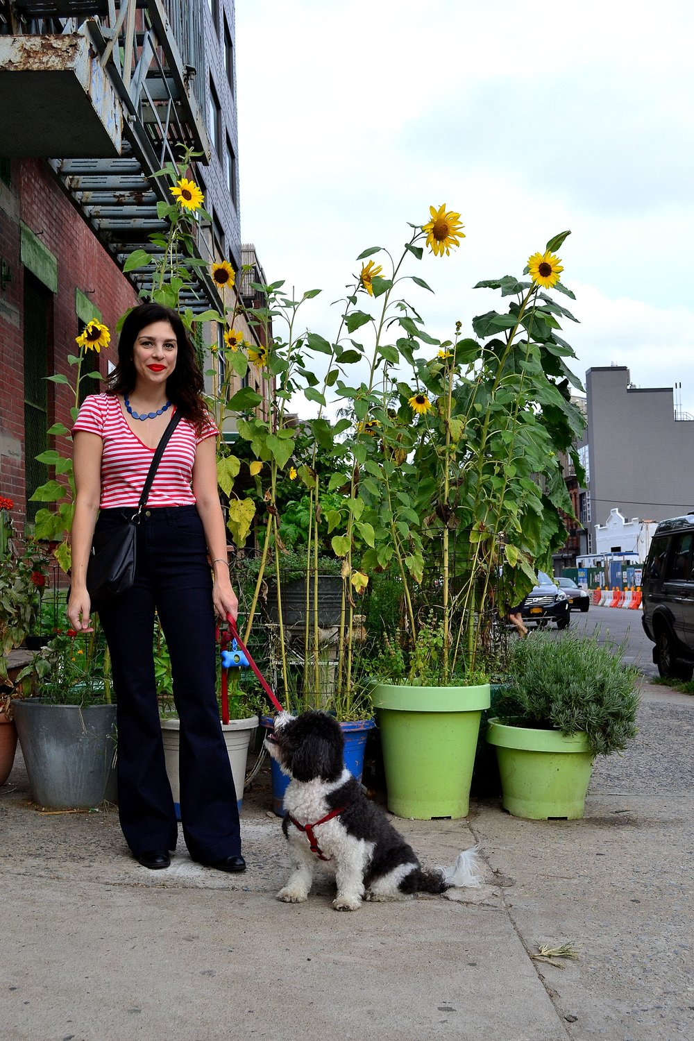 jeans: Highline Collective /  tee: Free People /  crossbody bag: Brooklyn Industries / booties: Zara/ necklace: Forever 21