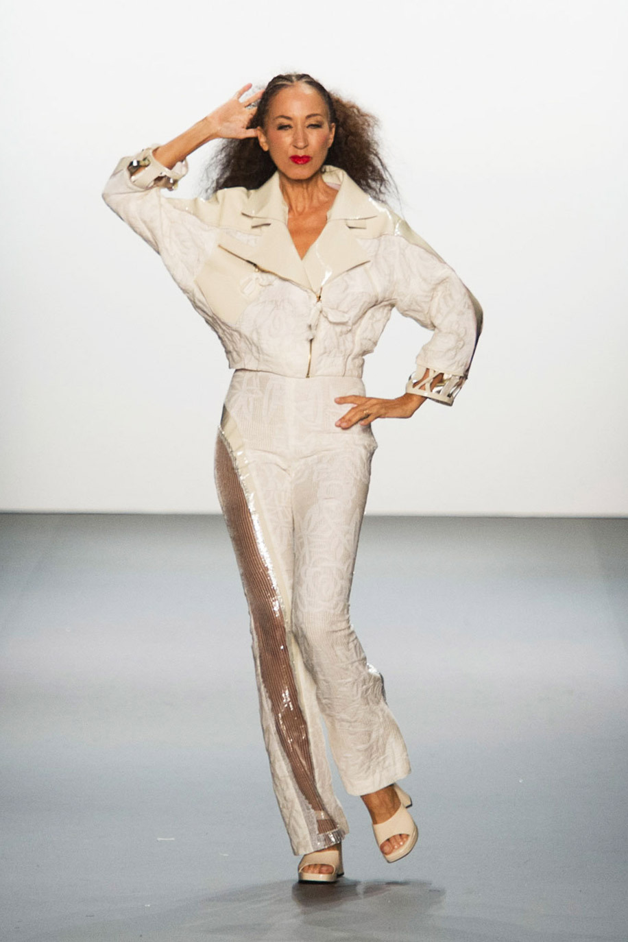 The legendary model Pat Cleveland finished the show and boy did she work that runway!