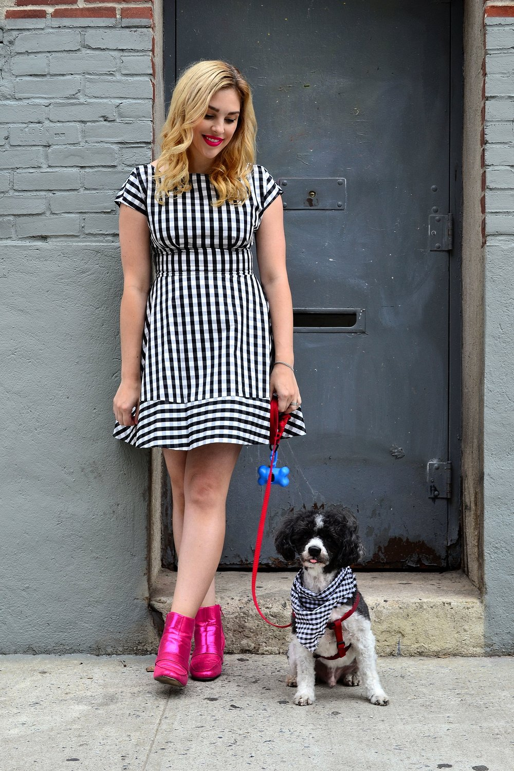 kate spade dress asos pink booties dog 5.JPG
