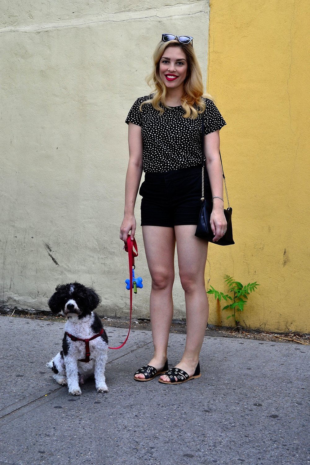 top- H&M ,  shorts- Mason Jules ,  sandals- ASOS ,  purse- H&M ,  sunglasses- ASOS