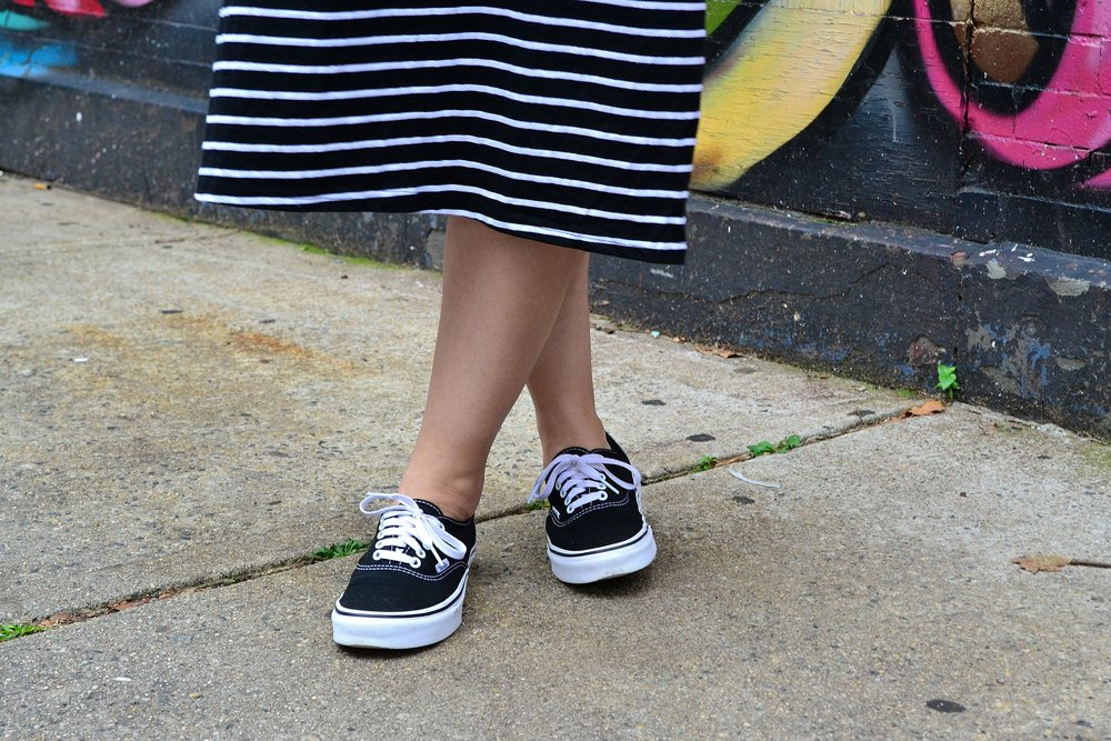 Aland dress Vans sneakers close up 2.JPG