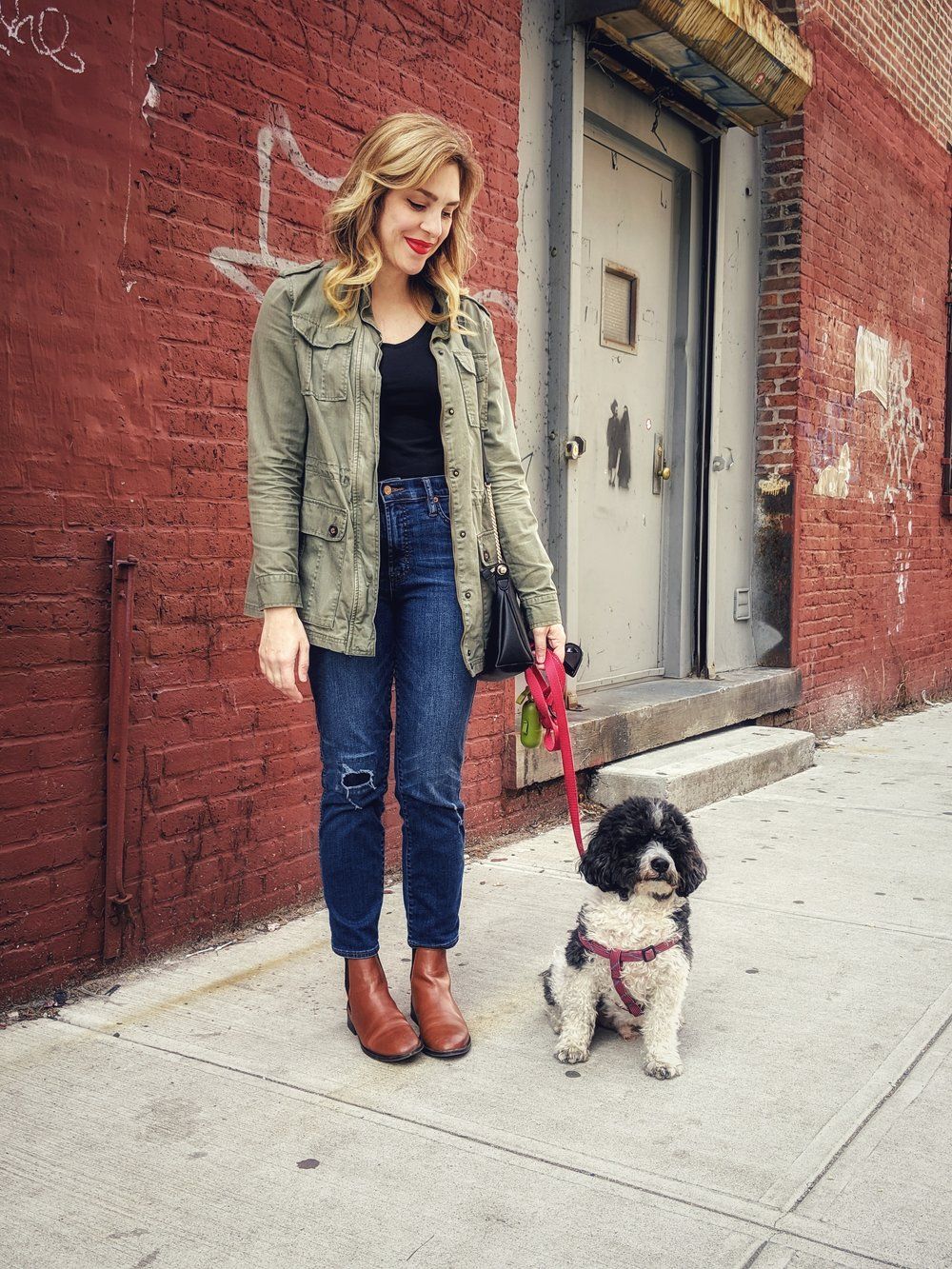 merona jacket jcrew jeans hm tee asos boots hm purse dog 3.jpeg