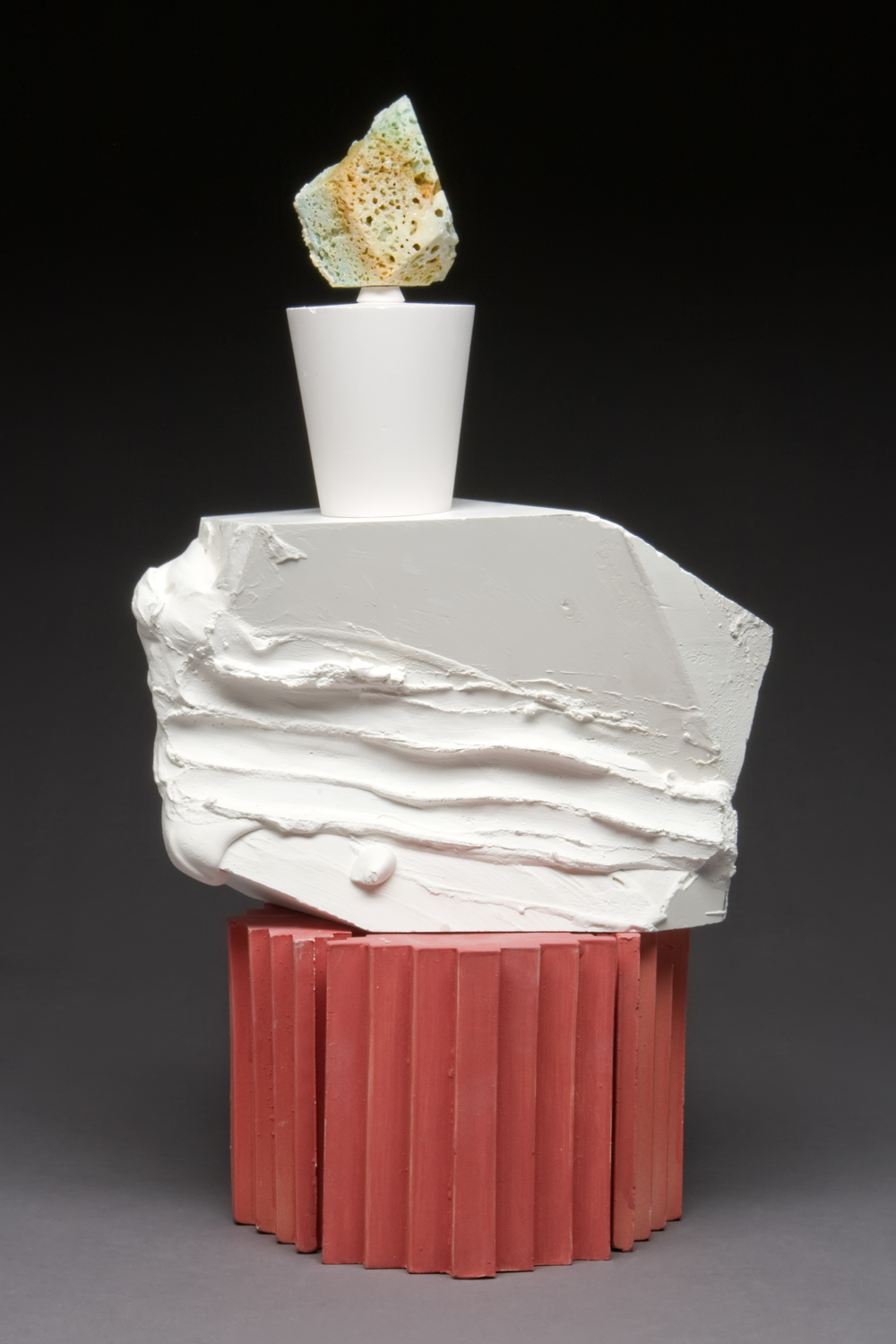 "Material Shrine Ceramic, plaster, paint, soda ash 22"" x 12"" x 10"" 2011 Photo Credit: Jim Walker"