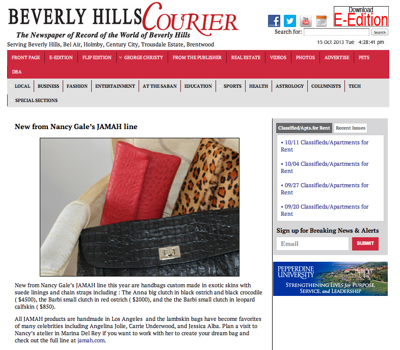 THE BEVERLY HILLS COURIER + JAMAH
