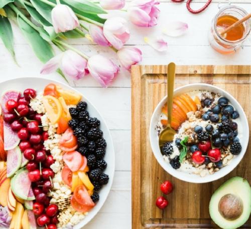 fruit salad with cherries, tomatoes and blackberries.jpg
