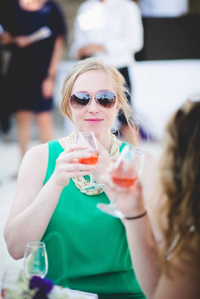 Me, drinking  rosé, because that's what you do in France.