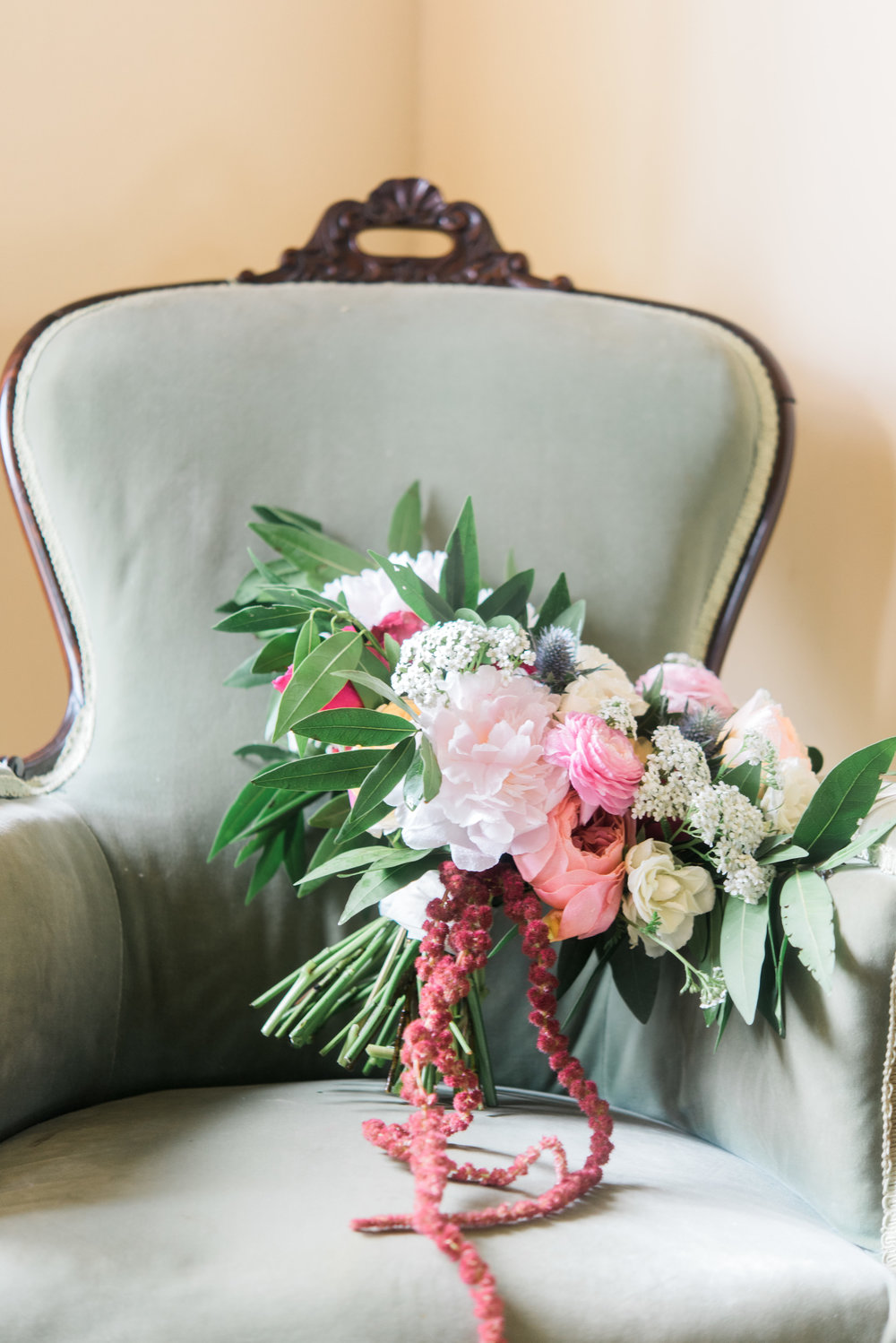 Photo by Brittany Schlamp Photography; bouquet by Antigua Floral + Styling.