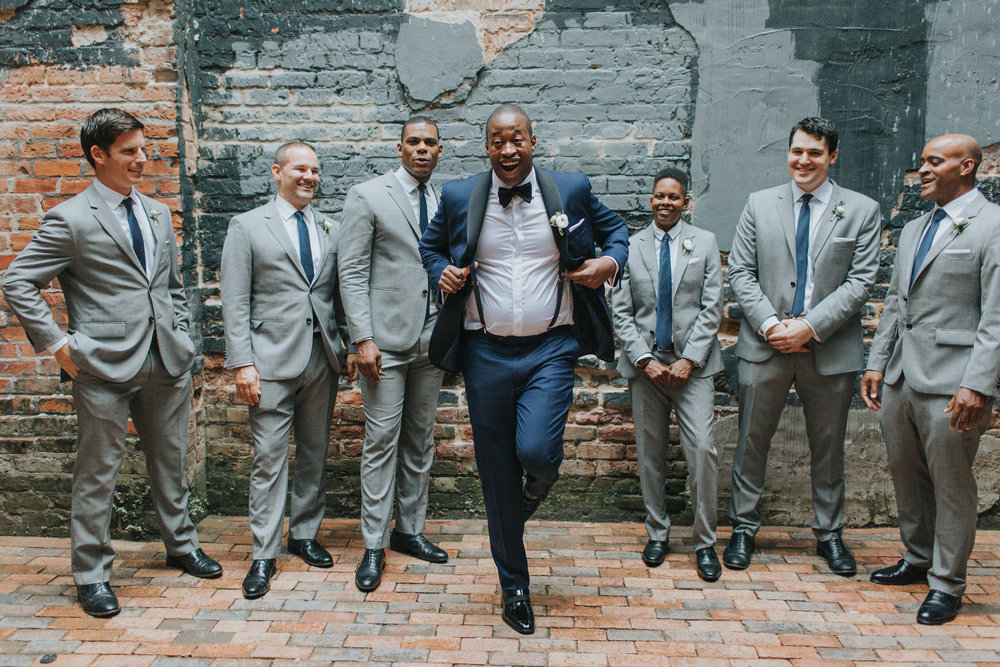 Groomsmen Ace Hotel New Orleans Ashley & Kahlil