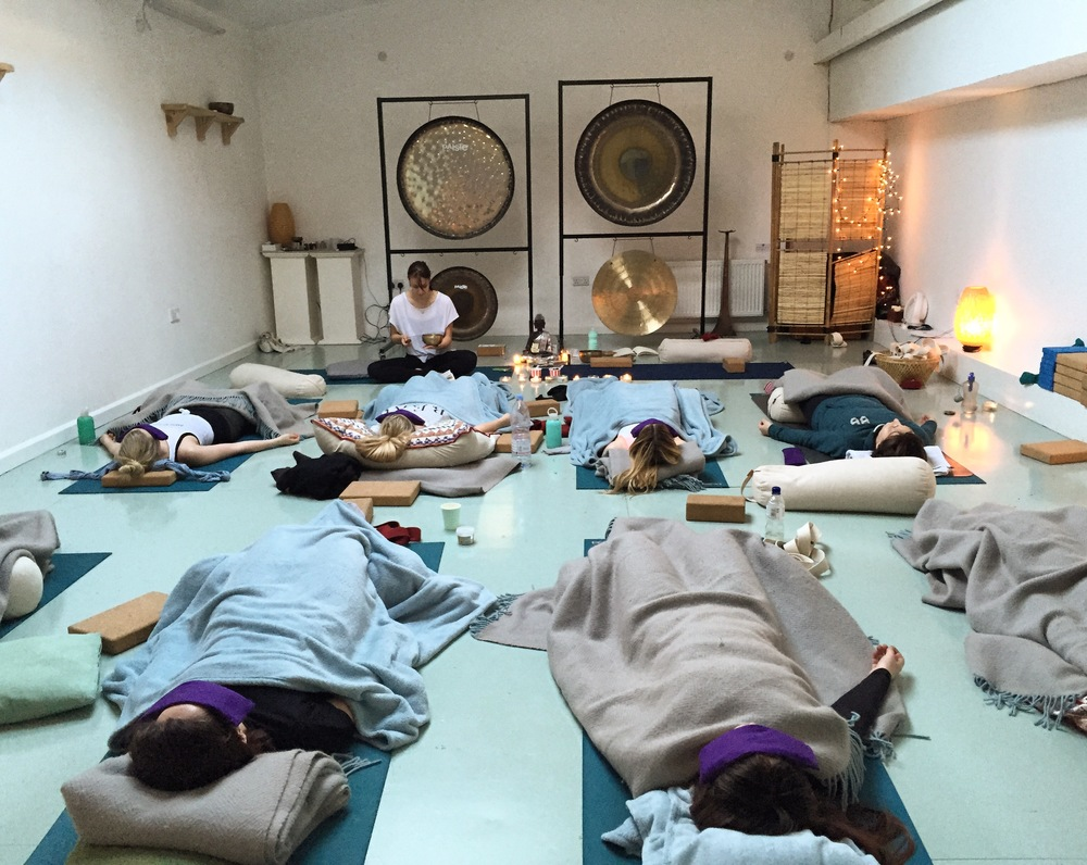 Day Retreats London - the final yoga savasana