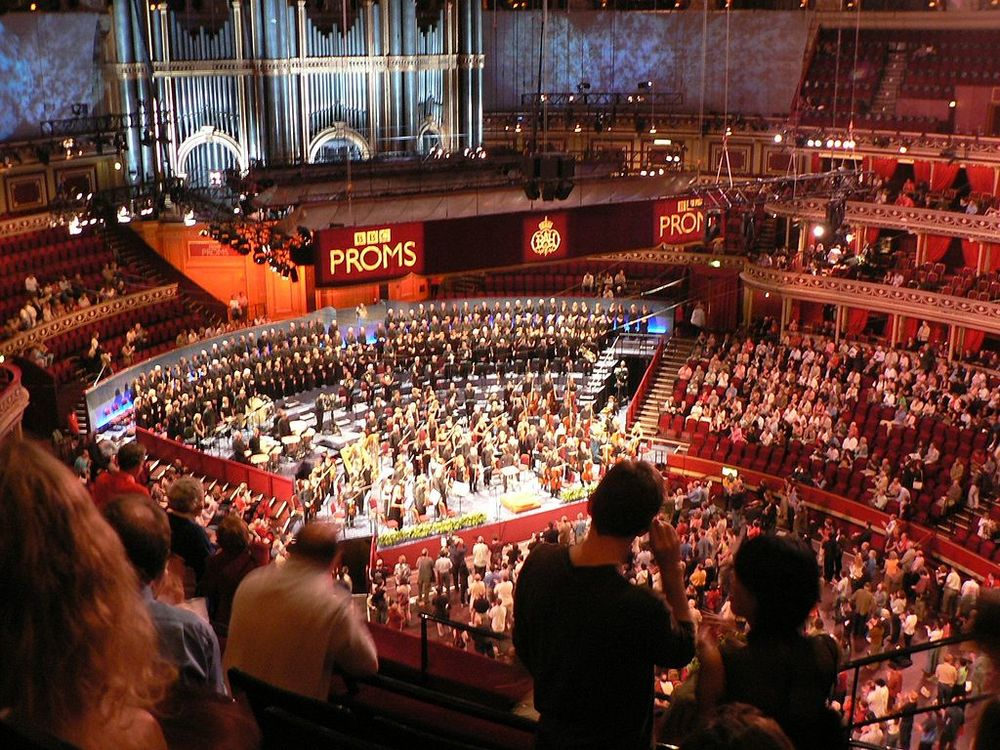 Main HAll of the Royal Albert Hall from above. Image Credit:  yisris  via  Flickr   cc