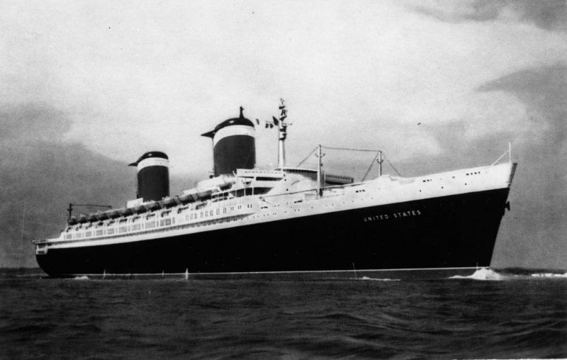 SS United States in her Heyday on the North Atlantic Run. ( Public Domain )