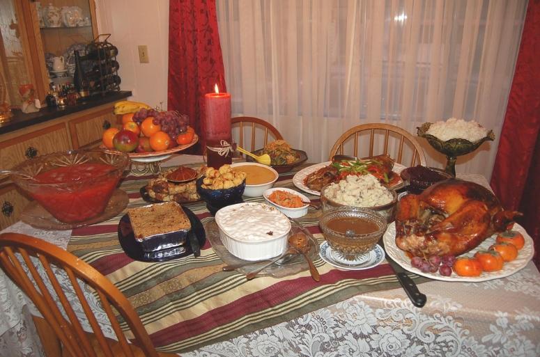A Traditional Thanksgiving Dinner. Image Credit:  Zeetz Jones  via  Flickr   CC