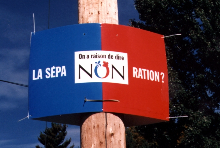 Following the No Vote in Quebec in 1995, the Canadian Supreme Court ruled that the Unilateral Secession was not permitted. Image Credit: © Zorion, CC-BY-SA, Wikimedia Commons