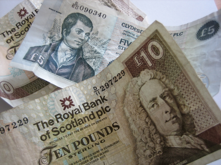 "Concerns over a Currency Union (or lack Thereof) Likely doomed the ""Yes"" Campaign in 2014.  Image Credit: Howard Lake via Flickr cc"