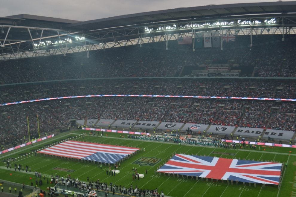 London NFL game featuring the Miami Dolphins vs. the Oakland Raiders. Image Credit:  Daniel  via  Flickr   cc