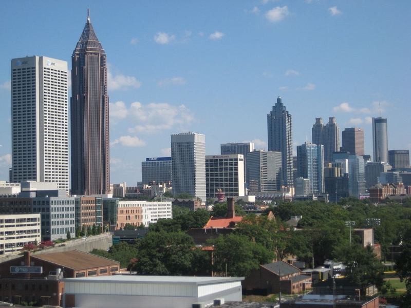 View of Downtown Atlanta. Image Credit:  Arashboz  via  Wikimedia Commons   cc (Public Domain)