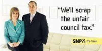 SNP advertisement from the 2007 election.