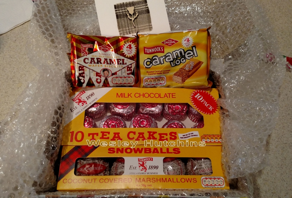 The special Tunnock's Treat I received from a friend in Scotland. Image Credit: Wesley Hutchins