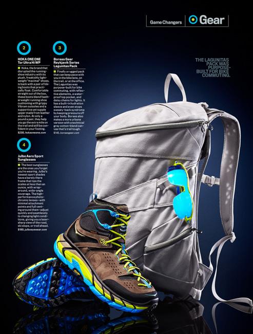 jarren vink men's fitness gear hoka boots lagunitas backpack julbo sunglasses