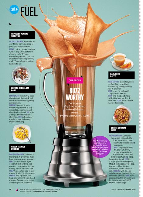 jarren vink runner's world blender power smoothie food