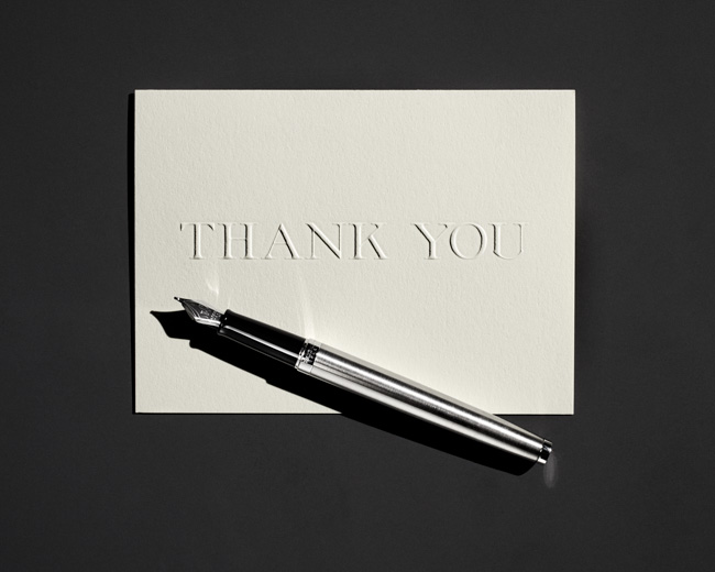 jarren vink men's fitness still life thank you card pen
