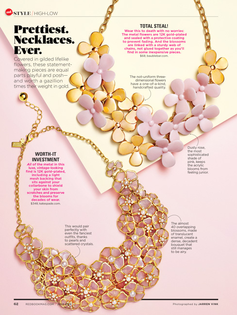 jarren vink redbook magazine jewelry necklace still life beauty tearsheet