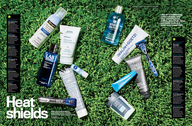 jarren vink men's fitness sunscreen grass aveda LAB series gillette dove clinique malin+goetz neutragena molton brown